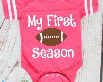 My First Football Season- Fall- Football Season- Football Onesie