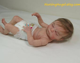 Levi Full body doll MAX by Cindy Musgrove  Reborn baby Boy 14 inch  Anatomically Correct Boy Reborn Preemie