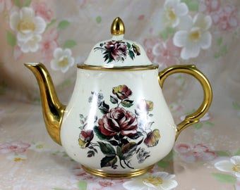 Arthur Wood Porcelain China Teapot, #5268, Made in England, Vintage from 1950s