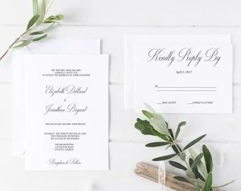 Wedding Invitation Template, Editable Wedding Invitations, DIY Wedding Invitations, DIY Template, Instant Download