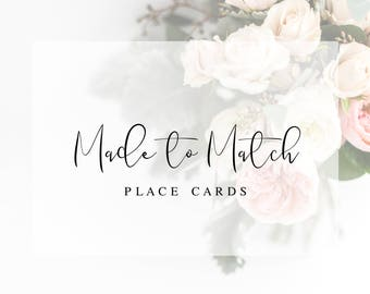 Made to Match Place Cards