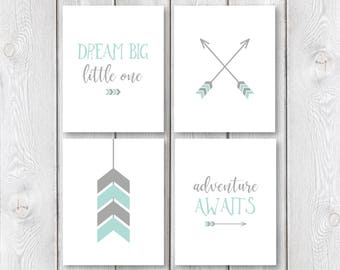 "Adventure Nursery Print Set || 8""x10"" DIGITAL DOWNLOAD 