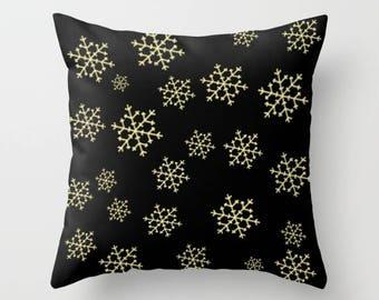 Snowflake Pillow, Pillowcase, Winter Pillow, Throw Pillow, Pillow Cover, Toss Pillow, Toss Cushion, Sofa Pillow, Xmas Pillow, Winter Decor