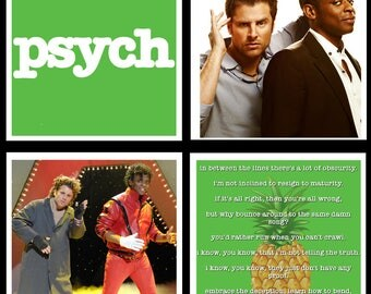 Psych Inspired Coaster Set
