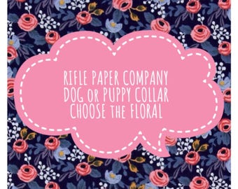 RIFLE PAPER CO. Floral Dog or Puppy Collar
