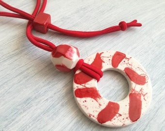 Ceramic Medallion necklace