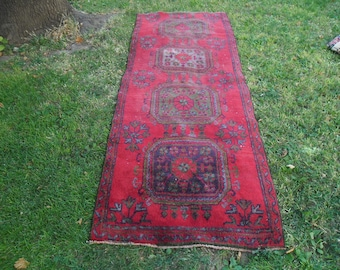 8x3 feet oushak rug vintage handmade area pink bohemian eclectic country contemporary wool rectangle persian  rugs,245x92cm