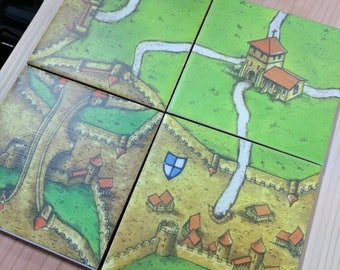 Carccasonne coaster set of 4 Version 2