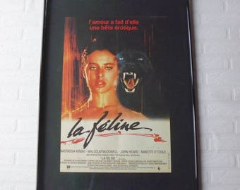 1982 La féline  Mc Dowell/Kinski original movie poster