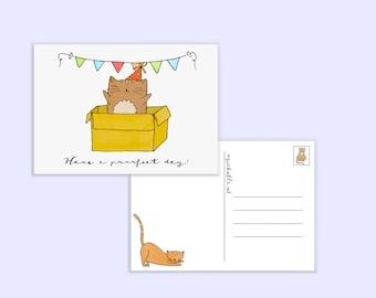 Birthdaycard cat