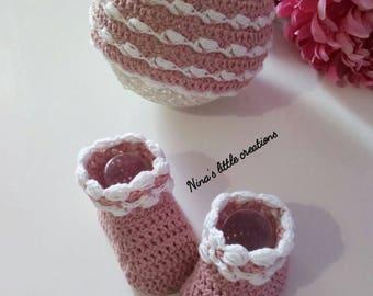 Set Baby Cap + shoes