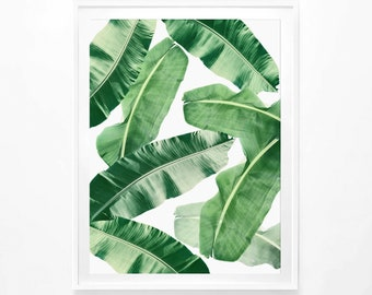 Banana Leaf Print, Tropical Print, Tropical Leaf Poster, Banana Leaves Poster, Beach Poster, Summertime Poster, Modern Art, Digital Print