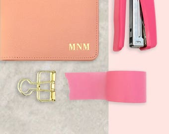 Passport Cover - Monogram Passport holder- Personalized Leather Passport Holder - Passport Cases - Passport Wallet -Wedding Gifts (NEW FONT)