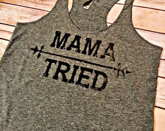 Mama Tried // womans tank // country concert tank // Merle Haggard