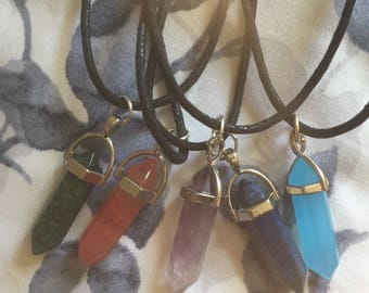 Colored Crystal Necklaces