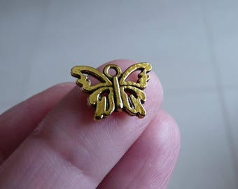 Butterfly Charm, Butterfly Charm for Bracelet, Butterfly Connectors, Antique Gold Tone  Butterfly Charms for Earrings