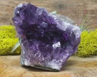 Dark Purple Amethyst Crystal Cluster  - Home Decor 1206.75