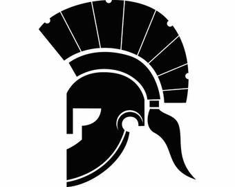 Gladiator Helmet #1 Spartan Mohawk Roman Empire Warrior Costume .SVG .EPS .PNG Instant Digital Clipart Vector Cricut Cut Cutting Download