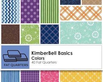 Kimberbell  Basics 40 piece fat quarter bundle, basic fabrics, Kim Christopherson for Maywood Studios
