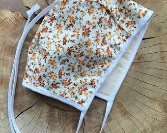 Classic Baby Bonnet, Floral Baby Bonnet