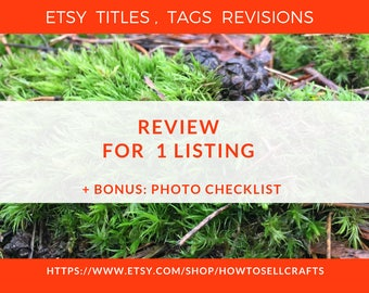 Tag revision Seller service Etsy tag help Etsy listing help Sell item Sell crafts Etsy tags Etsy tagging Seo help Writing service Keywords