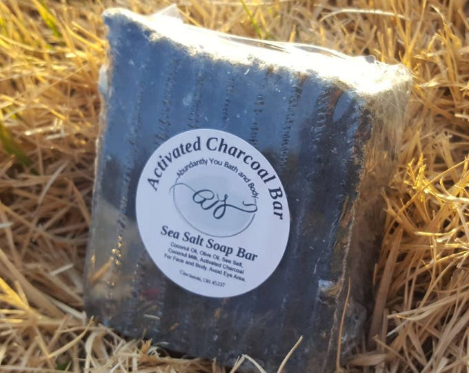 Activated Charcoal Soap | Approx 5 oz | Vegan Soap | Palm Oil Free | Full | Sample