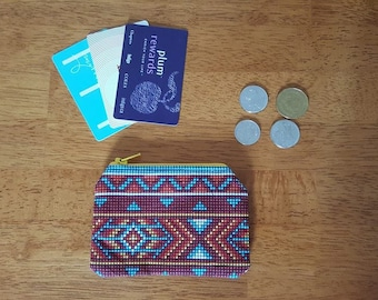 Faux Beaded Coin Purse