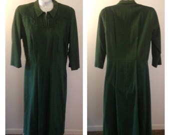 On Sale Vintage Green Ladies Dress