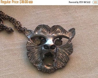 Anniversary Sale Vintage Animal Face Necklace