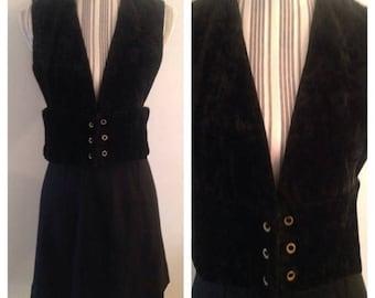 Anniversary Sale Cool Velvet Vest and Black Skirt