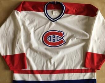 Vintage Montreal Canadiens Maska Ultrafil CCM NHL Hockey Jersey size Medium 90s