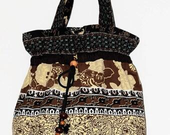 double velvet Bohemian ethnic bag