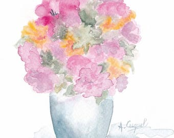 bouquet 29 - original watercolor painting