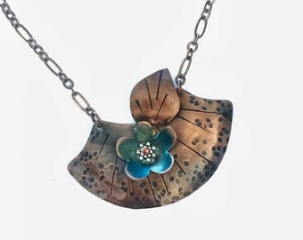 Copper necklace, copper jewelry,  patina necklace, women's  necklace, gift for her, copper jewelry, copper necklace, statement necklace