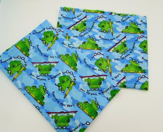 Kid 39 s novelty cotton prints quilt bundle frogs friends for Novelty children s fabric
