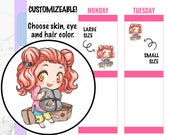 Pandora-Happy Mail Stickers, Kawaii Stickers, Hand drawn Stickers, Chibi Planner Stickers