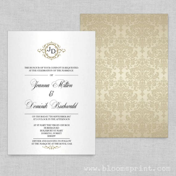 Wedding invitation template, Wedding invitations online, Monogram wedding invitations templates, Wedding invites with rsvp