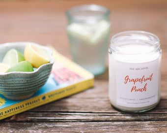 Grapefruit Punch Soy Candle Handmade Candle by The Archives Candles