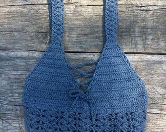 Valencia Top, Crochet crop top