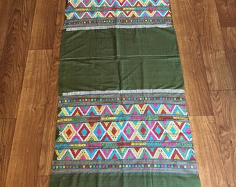 Handwoven Lao Textiles; Hmong Hill tribe fabric, Table Runner
