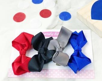 Gift Set of 4 Mini Boutique Bows in Nautical
