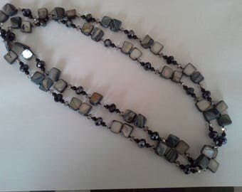 Black Pearl beads necklace