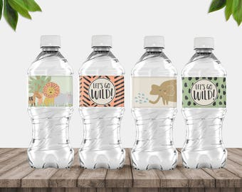 Printable Go Wild Bottle Covers