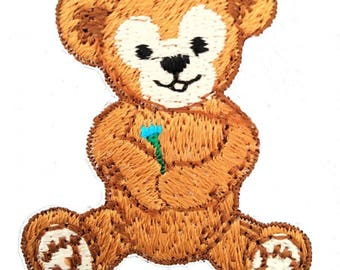 Patch/Ironing-teddy bear children-Brown-4 x 5 cm-by catch-the-Patch ® patch appliqué applications for ironing application patches patch