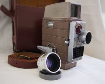 Bell & Howell 624 EE Auto Set Cine Camera plus Case and additional lens.