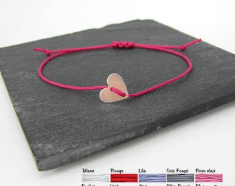 Heart and cord color - Creation of chip bracelet