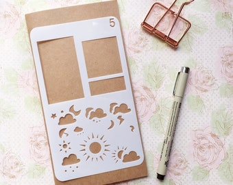 Bullet Journal Stencil #5 - Planner, Journal, Craft, Scrapbooking, Decoration