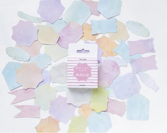 45 Pieces Watercolor Label Stickers - Planner, Journal, Craft, Scrapbooking, Decoration
