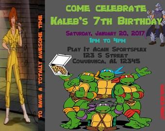 Teenage Muntant Ninja Turtle Birthday Invite