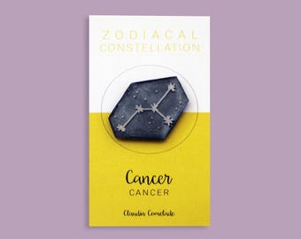 brooch constellation Zodiac - cancer